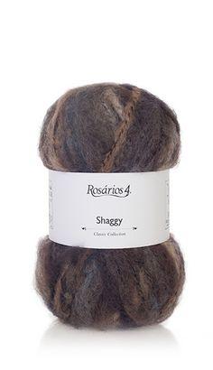 Yarn: Shaggy. Composition: 50% Wool + 50% Acrylic.