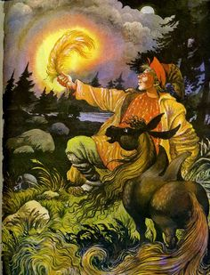 """""""The little humpbacked horse"""" - the poetical tale of Peter Ershov (the original of this fairy tale is a folk story) written in 1830. The main characters — a peasant's son, Ivan the fool and the magical little humpbacked horse. This is a classic work of Russian literature for children...   Illustrations by I. Vyshinsky"""
