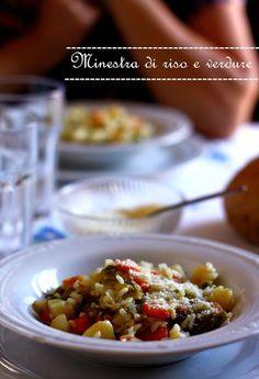 Genesi di un pranzo all'ultimo minuto: Minestra di riso e verdure e frittata di lampascioni