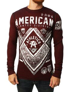 a3cc4d1769 American Fighter Men s Victory Long Sleeve Thermal Shirt