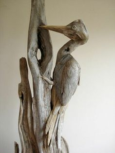 Vincent Richel gathers driftwood from the lakes in the Western Mountains of Maine, cleans the wood and creates sculptures inspired by his surroundings. The sculptures pay homage to the cycle of life.