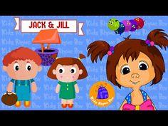 Jack & Jill went up the hill   Nursery Rhymes with BLOOP & KATTY Episode 15  Kids Rhyme Box - YouTube #kidsrhymebox #nurseryrhymes #kindergarten #playschool #earlylearning #montessori #bloopandkatty #jackandjill #jackandjillwentupthehill