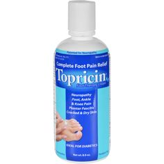 Topricin Foot Therapy Cream Description: Pain Relief and Healing Cream Effective to Treat Foot and Ankle Pain Associated with: - Nerve Pain (Burning Pain) - Pain of Heel - Arch, and Shin Splints - Tir