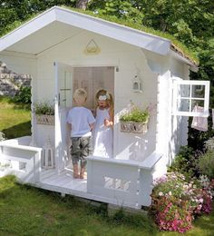 Play house-must when we have kids!! We had one growing up and it was so much fun!