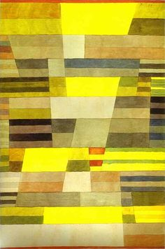 'monument', wasserfarbe von Paul Klee (1879-1940, Switzerland)