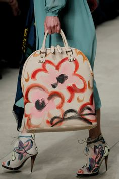 Accessory lovers - check out the hand painted bags and shoes at Burberry #LFW