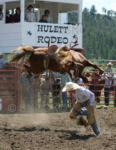 5th Annual 'Ride a Horse, Feed a Cowboy' Event - Saddle Bronc Riding - Hulett, Wyoming