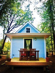 Back porch for the Harbinger | Tumbleweed Tiny House Company