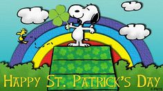 SNOOPY & WOODSTOCK~Happy St. Paddy's Day :)