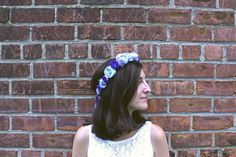 Boho wedding accessories; adjustable floral crown with beading. Something Blue ideas. Easy wedding hair ideas. Kerry Ann Stokes