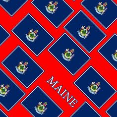 Smartphone Case - State Flag of Maine - Diagonal I