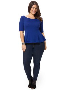 Blue Bubble Jacquard Bardot Flare Top