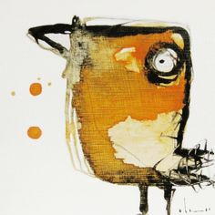 Ptaszyna - Vira Lata: Inspiration for creating creatures out of torn-scrape materials on canvas with acrylics.