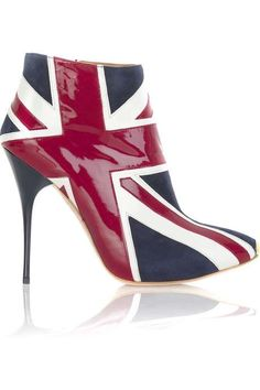 Celebrate the Queen's Jubilee in style: Alexander McQueen Union Jack ankle boots    @Kim Jackson for you!