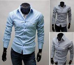 Men's Vertical Pinstripe Shirt