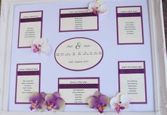 Purple and ivory seating plan