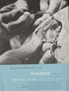 Thorazine for when it would be bad to vomit, like during eye surgery.  Forget about the folks reading the magazine in your waiting room
