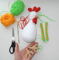 Amigurumi funny rooster crochet pattern - assembly