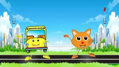 English Nursery Rhymes - Wheels On The Bus - Cartoon And Animated Rhymes...