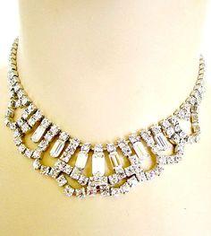 Vintage Rhinestone Choker Bridal Necklace by nanascottagehouse, $49.99
