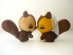 #Squirrels Sweet Love #wedding cake topper- #Custom #wedding cake topper- DIY wedd, View more on the LINK: http://www.zeppy.io/product/gb/3/157725461/