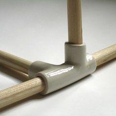 Ceramic furniture joints.