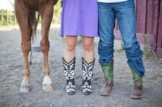 Country Engagement Photos-replace horse legs with hanks