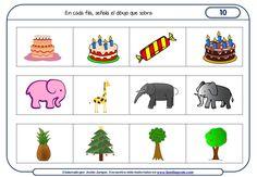 Fichas de razonamiento para niños para Educación Infantil Familia Y Cole, Hidden Pictures, Thinking Skills, Playing Cards, Games, School, Speech Pathology, Comprehension Activities, Learning