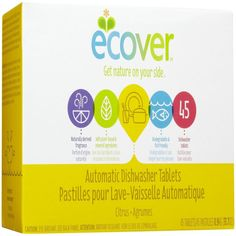 Ecover, Automatic Dishwasher Tablets, Citrus, 45 Tablets - Review - http://pusabase.com/blog/2016/07/02/iherb-recommended-products-july-edition/   #iherb #favorites #recommendations #shopping #shoppingtips #recommended