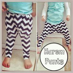 DIY Toddler Harem Pants...again, enlarge for adults