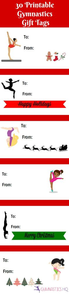 30 Free Printable Gymnastics Gift Tags