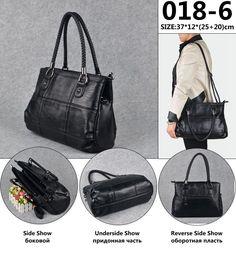 WANU Hot selling leather women s handbag sheepskin female shoulder bag women  messenger bag black fashion top-handle bags 8c6fb8bbdb688