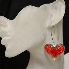 Valentines day earrings, love earrings, heart earrings only 1$