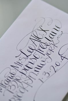 I would love for my envelopes to look like this!