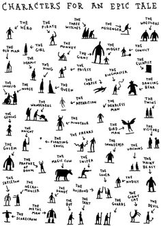 character's for an epic tale