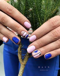 Make an original manicure for Valentine's Day - My Nails Trendy Nails, Cute Nails, Hair And Nails, My Nails, American Nails, Modern Nails, Minimalist Nails, Gel Nail Designs, Creative Nails