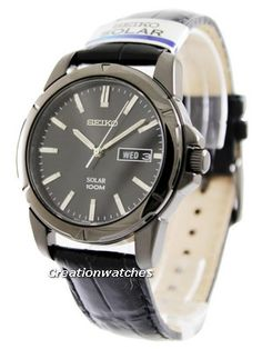 Seiko Solar SNE097P1 SNE097P SNE097 Men's Watch Seiko Solar, Watches For Men, Leather, Accessories, Men's Watches, Jewelry Accessories