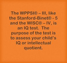 Practice Questions for the WPPSI-The Wechsler Preschool and ...