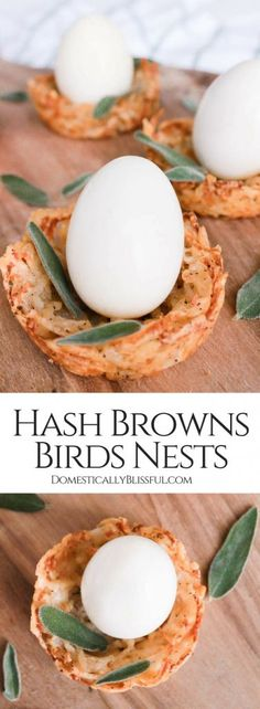 These individual Hash Browns Birds Nests are the perfect savory brunch recipe for Easter