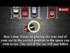 Parking by reversing into a space could be tricky. This is method The movie instructs you on where to steer t. Driving Instructions, Drivers Ed, Reverse Parking, Driving Tips, Drive Me Crazy, Car Hacks, Rear Ended, Simple Life Hacks, How Are You Feeling
