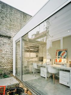 Michelle - Blog #The #sunroom is #transformed into #office Fonte : http://decorpics.net/?p=1412