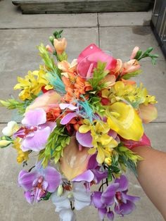 tropical bouquet  Mendi by SunsetFloralandGifts on Etsy, $110.00