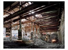 From 'Industrial Strength: Selections from the Collection': ©Peter Vanderwarker, Beneath Haymarket, November 1, 2000, 2000, from Boston's Big Dig, 1989-2004, chromogenic print, gift of the artist (Class of 1965), 2010.66.13