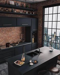 37 Top Kitchen Trends Design Ideas and Images for 2019 Part kitchen ideas; Top Kitchen Trends Design Ideas and Images for 2019 Part kitchen ideas;Home Wall Ideas Home Decor Kitchen, Kitchen Interior, Home Interior Design, Diy Home Decor, Interior Ideas, Diy Decoration, City Kitchen Ideas, Brick Interior, Coastal Interior