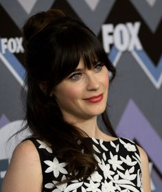 Another Cute Half-Up Hairstyle Idea to Steal From the Always-Adorable Zooey Deschanel: Girls in the Beauty Department