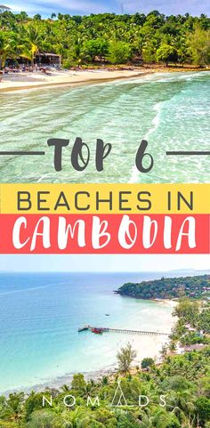 The 6 Best Beaches in Cambodia You Cannot Skip Discover where to find the best beaches in Cambodia for your next summer vacation. Cambodia Destinations, Cambodia Beaches, Cambodia Travel, Travel Destinations, Destin Beach, Beach Trip, Beach Vacations, Beach Hotels, Beach Travel