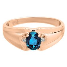 Men's Rose Gold Diamond Oval Cut London Blue Topaz Stone Ring Gemologica.com offers a unique and simple selection of handmade fashion and fine jewelry for men, woman and children to make a statement. We offer earrings, bracelets, necklaces, pendants, rings and accessories with gemstones, diamonds and birthstones available in Sterling Silver, 10K, 14K and 18K yellow, rose and white gold, titanium and silver metal. Shop Gemologica jewellery now for cool cute design ideas