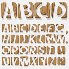 3d Wooden Alphabet