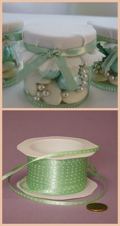 Wedding Favors. Adapt it to your own colour scheme so easily & all at very little cost ~ just a little time & TLC needed