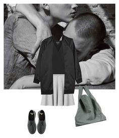 """""""Heartbeat"""" by alvn ❤ liked on Polyvore featuring Monki, Maison Margiela, Topshop and Dr. Martens"""